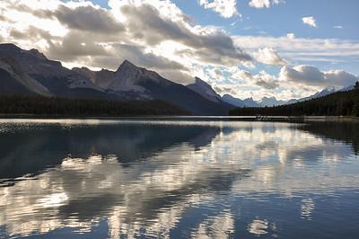 Lake Maligne, perfect reflection, British Colombia, Canada