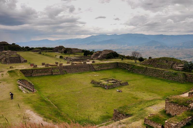 Monte Alban historical ruins, near Oaxaca, Mexico