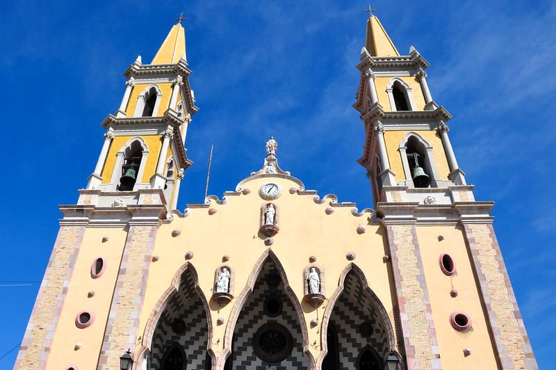 Orange Cathedral in Mazatlan, Mexico