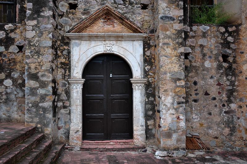 Antique Church Door in La Aduana, Mexico