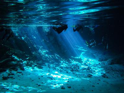 Cenote dos ojos, diver's paradise in Yucatan Peninsula, Mexico