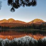 Sunset on Lassen Volcanic National park, California, USA