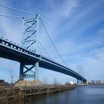 The Benjamin Franklin Bridge, Philadelphia, USA