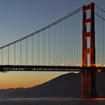 Sunset at Golden Gate Bridge, San Francisco, California, USA