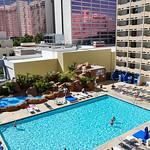 Swimming pool on the Strip of Las Vegas, Nevada, USA