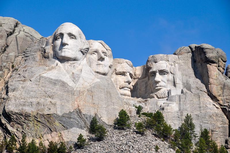 Famous US Presidents on Mount Rushmore National Monument, South Dakota, USA