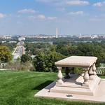 Arlington cemetery with view over Washington Monument, Washington D.C., USA