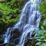 Waterfall near Multnomah Falls, Columbia River Gorge, Oregon, USA