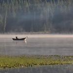 Fisherman, Trillum Lake, Mount Hood, Oregon, USA