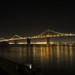 San Francisco Oakland Bay Bridge at night, California, USA