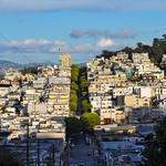 Steep hills of San Francisco, California, USA