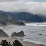 Fog over the Oregon Coast, Oregon, USA