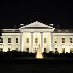 The White House illuminated at night, Washington D.C., USA