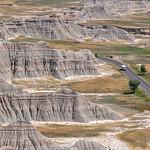 Lonely Campervan in Badlands National Park, South Dakota, USA