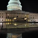 The US Capitol at night, Washington D.C., USA