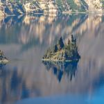 The Phantom Ship on Crater Laker, Oregon, USA