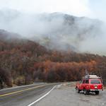 Road trip in Autumn in Tierra del Fuego, Argentina.