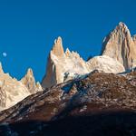 Sunrise over Fitz Roy mountain range, Argentina.