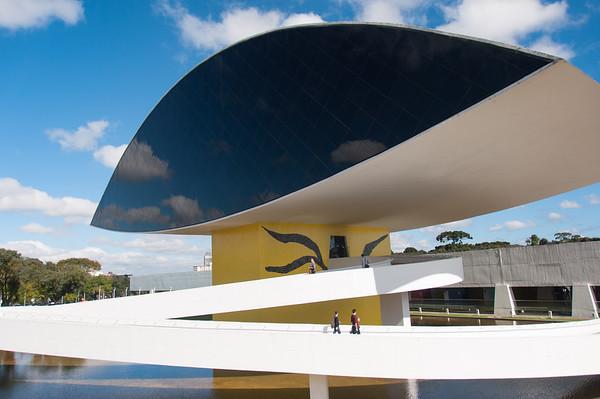 Oscar Niemayer famous architect's museum, Curitiba, Brazil