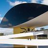 Oscar Niemayer famous architects museum, Curitiba, Brazil