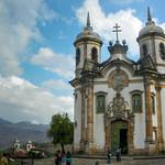 View of the Igreja de Sao Francisco de Assis, Ouro Preto, Brazil