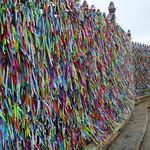 Wish ribbons attached to the famous Igreja Nosso Senhor do Bonfim, Salvador da Bahia, Brazil