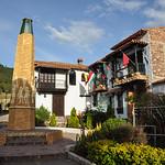Colorful houses of Pueblito Boyacense, Boyaca,Colombia.