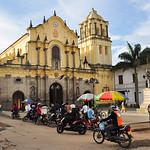 San Francisco's church Plaza in Popayan, Colombia