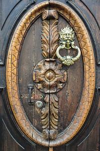Wooden door with details, Salamina, Colombia