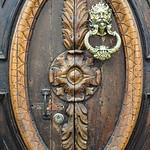 Wooden door with details, Salamina, Colombia.