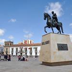 Statue of Simon Bolivar in Tunja, Boyaca, Colombia