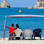 Father & Son at the beach, Rocadero, Colombia
