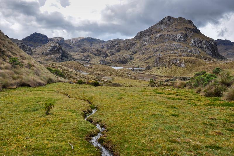 Beautiful view over El Cajas National Park, Ecuador