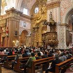 Golden church of San Francisco, Quito, Ecuador