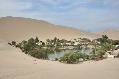 Oasis in the desert of Huacachina, near Ica, Peru