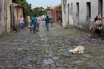 Cobblestone street of Colonia del Sacramento, Uruguay