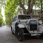 One of the many old cars encountered in Colonia del Sacramento, Uruguay.