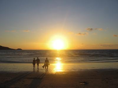 Sunset on the beach, Phuket, Thailand