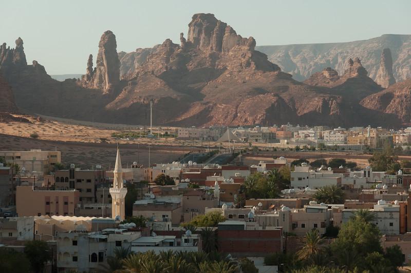 Overlooking the city of Al Ula, Saudi Arabia