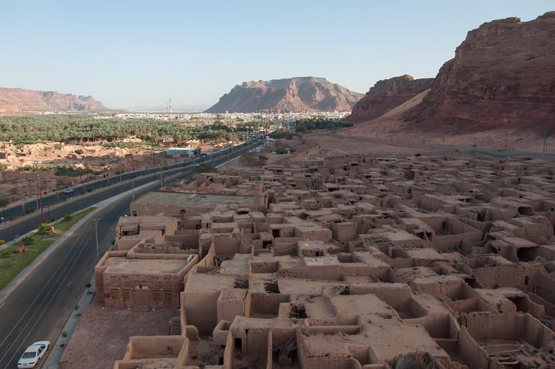 Overlooking the old city of Al Ula, Saudi Arabia