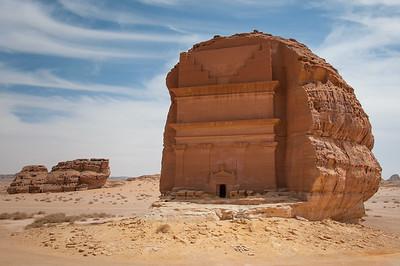 Nabatean tomb in Madain Saleh archeological site, Saudi Arabia