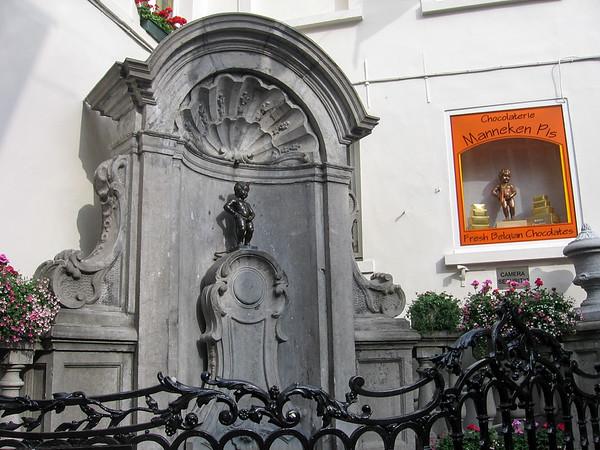 Manneken Pis statue, in Bruxelles, Belgique