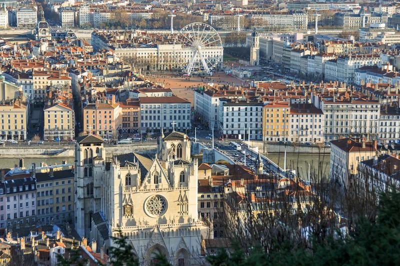 View over Place Bellecour, Lyon, France