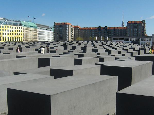 The Berlin Holocaust Memorial, in Berlin, Germany