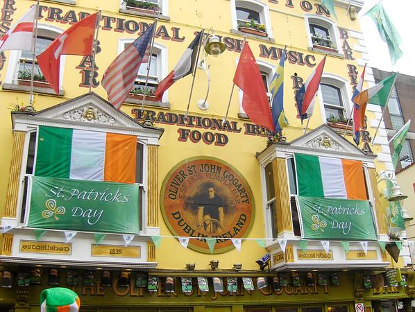 St-Patricks day festivities in Dublin, Ireland