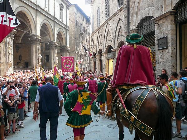 Palio di Siena, a medieval festival in Siena, Italy