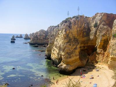 Rocky beach in Portugal, Lagos, Algarve, South Portugal