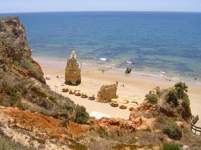 Praia da Rocha in Algarve, South Portugal