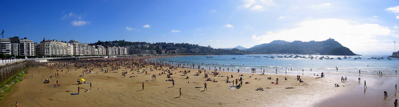 Summer in San Sebastian Donostia, Spain