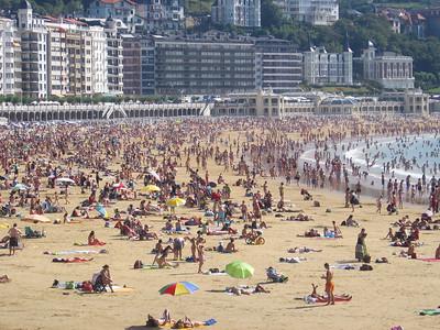 San Sebastian beach, Donastia, Spain